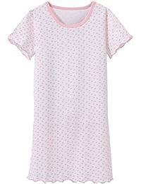 ABClothing Camisón Camisón de Noche Niñas Lindo corazón Impreso Camisa de Dormir Suave Cómodo Nocturno Pijama de Dormir Blanco 8-9 años Etiqueta 140