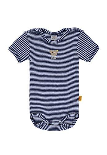 Steiff Baby-Jungen Body 1/4 Arm, Blau (Baby Blue 3023), 86
