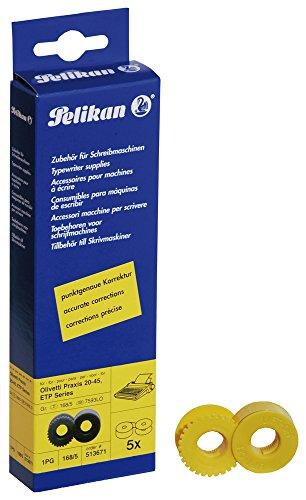 Pelikan 513671 - Olivetti Praxis Korrekturband für Schreibmaschine Gr. 168, 5 Stück
