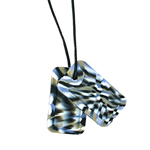 Chewigem Sensory Chew Dog Tag Necklace - Chewy Toy For Autism & ADHD - Camo
