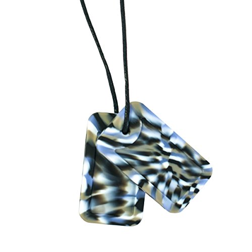 Chewigem Sensory Chew Dog Tag Necklace – Fidget Toy For Grinding – Autism – Camo