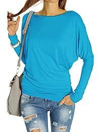 Bestyledberlin Damen Top Shirts, Longshirt Oberteil Langarmshirt Fledermaus langarm t67p
