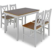 Amazon.fr : table et chaise salle a manger - Blanc