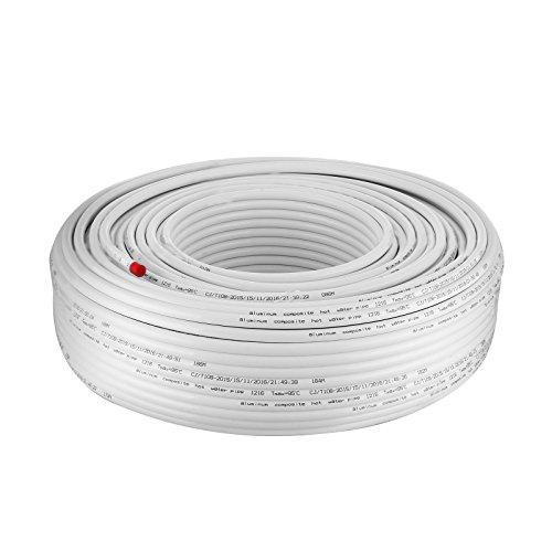 BuoQua Verbundrohr 300M PEX AL PEX Isoliert Aluverbundrohr 16 x 2mm Ungiftige Fußboden-Heizungsrohr Warm- und Kalt-Wasserrohr Mehrschichtverbundrohr (300 M) -