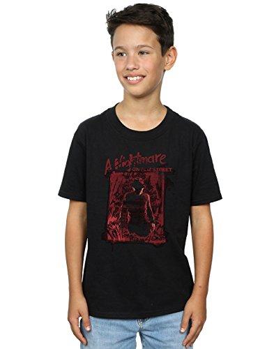 Absolute Cult Nightmare on Elm Street Boys Freddy Silhouette T-Shirt