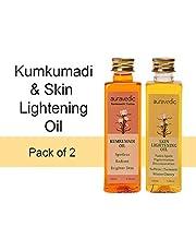 Auravedic Skin Lightening Oil 100ml & Kumkumadi Oil 100ml