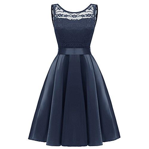 Quaan Frau Party Jahrgang Prinzessin Kleid Blumen über Cocktail V-Ausschnitt Eine Linie Swing Kleid...