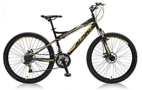 breluxx® 26 Zoll Mountainbike Hardtail FS Disk Buffalo Sport schwarz, 18 Gang Shimano, FS + Scheibenbremsen - Modell 2019 Besten Bikes Buffalo
