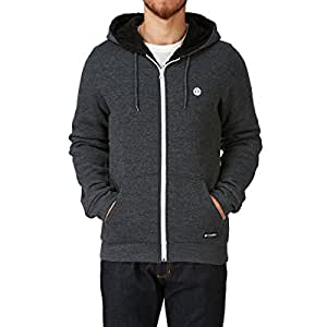 Sweat zippé à capuche Element FA15 Bolton Sherpa Lined Charcoal Heather