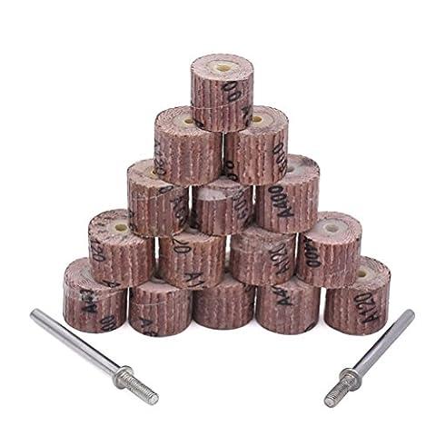 Goxawee 50pcs ponçage abrasif Roues à lamelles Brosse Bit polissage Outil de polissage Accessoires pour outils rotatifs–Grain 80# 120# 240# 400# 600avec 5pcs 1/20,3cm Tige pour mandrin