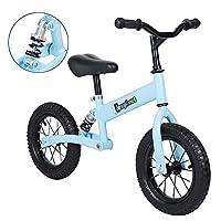 LEPAK Balance Bike for Ages 2-8 Years Old Boys Girls, Carbon Steel Frame No Pedal Walking Balance Bike Training Bicycle for Teenagers,Light Blue