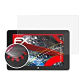 atFolix Schutzfolie passend für Trekstor SurfTab Duo W3 Folie, entspiegelnde & Flexible FX Bildschirmschutzfolie (2X)