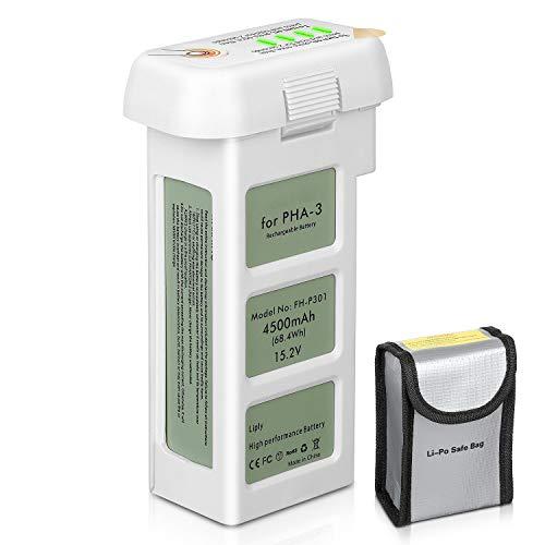 ENEGON Batterie de Rechange 15.2V 4500mAh Vol Intelligent LiPo Batterie de Rechange + Sac de Sécurité de la Batterie pour DJI Phantom 3 Se, Professionnel, Phantom 3 Advanced, Standard, Drones 4K