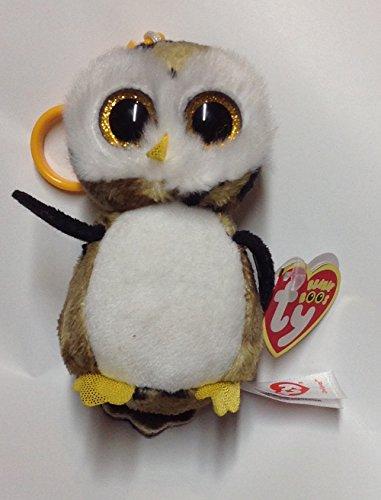 Ty Owliver Schlüsselanhänger - Beanie Boos Eule schwarz/braun 8,5 cm (Große Eule-beanie-boo)