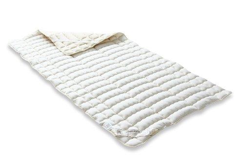 Badenia 03883211000 Merino - Funda de colchón (percal y Relleno de algodón), Color Beige