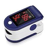 Oxymètre de Pouls Doigt Matériel Médical avec Affichage LCD Saturation en Oxygène dans Le Sang(SpO2) et Fréquence du Pouls(PR) Mesure, Moniteur de Fréquence Cardiaque pour Adult Enfant Santé