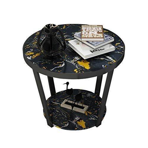 C-J-X TABLE C-J-Xin Marmortisch, Teetisch Couchtisch Kreative Wohnzimmer Sofa Seite Schlafzimmer Nachttisch Runde Tisch Freizeit Tisch Platz Sparen (Farbe : #3) | Schlafzimmer > Nachttische | C-J-X TABLE