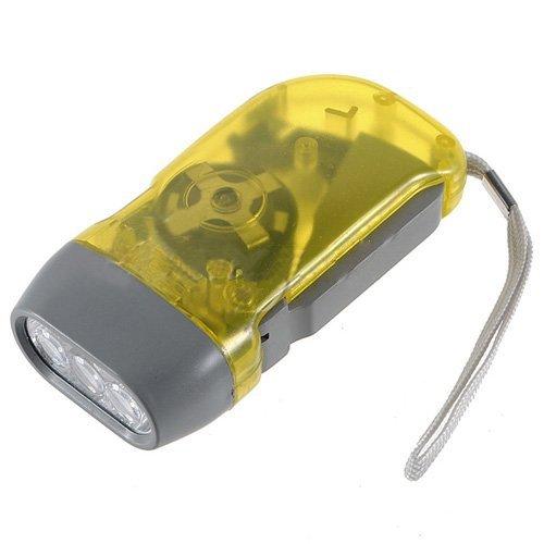 Yks Lampe torche dynamo à 3 LED par pression de la main