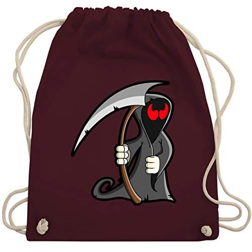 (Halloween - Sensenmann - Unisize - Bordeauxrot - WM110 - Turnbeutel & Gym Bag)
