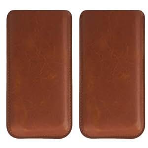 Ultra slim étui en cuir marron pour mlais m7 en cuir synthétique grainé avec ajustement parfait et protection coque élégante étui de téléphone portable étui de protection pour smartphone