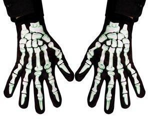 HAAC Baumwolle Skelett Handschuhe für Erwachsene für Halloween Fasching Karnevall