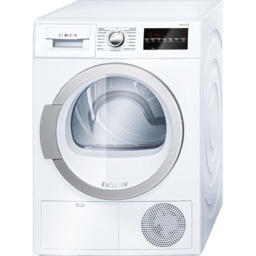 Bosch Serie 6 WTG86480 Autonome Charge avant 9kg B Blanc sèche-linge - Sèche-linge (Autonome, Charge avant, Condensation, Blanc, boutons, Rotatif, Droite)