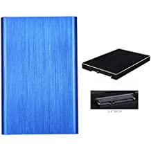 carcasa para Discos duros externos 2tb baratos pequeños USB2.0 Sannysis External Hard Drives discos duros portatiles multimedia FUNDA HHD Caso para Windows XP/Win7/Win8/Win10/Mac OS 8.6, LINU and MAX (Azul)