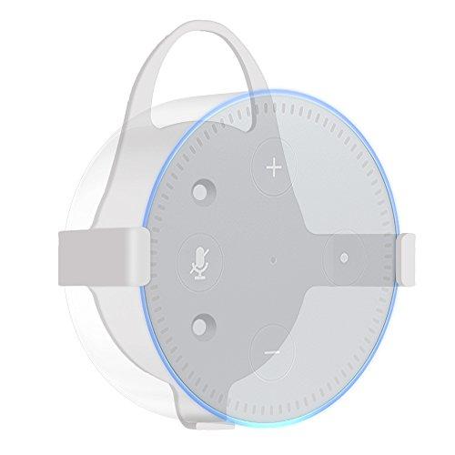 Preisvergleich Produktbild Fintie Ständer für Amazon Echo Dot 2 - Lautsprecher Ständer Wandhalterung Guard Halterung für Amazon All-New Echo Dot (2nd Generation),  Weiß