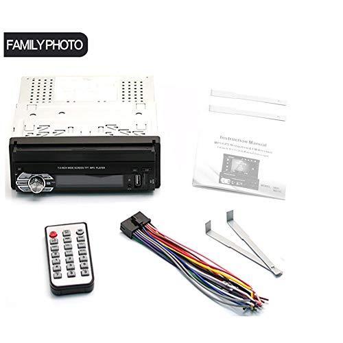 KINJOHI 7inch Autoradio-Audio-Radio GPS-Navigation Versenkbares Autoradio mit BT DVD MP5 SD FM USB-Player Rückfahrkamera (9601G) (Großes Bildschirm, Dvd-spieler)