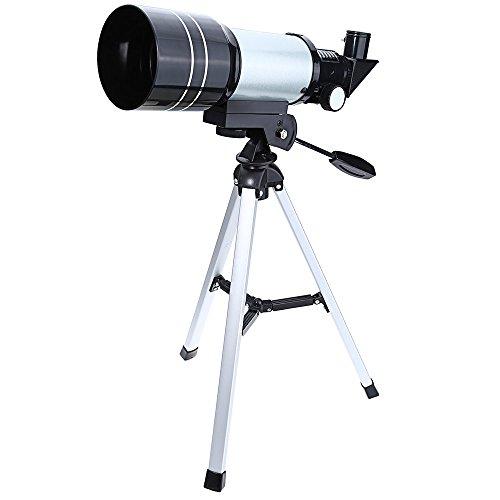 SKM 70/300 Astronomisches Teleskop tragbarer Refraktor Universelle Verwendungen für Anfänger, Einsteiger, Amateur-Astronomen und Kinder als Geschenk