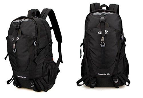 Multifunktionale outdoor-Sportarten wasserdichte Rucksäcke outdoor Bergsteigen Tasche Sport Schulter Sport Reisetaschen Black