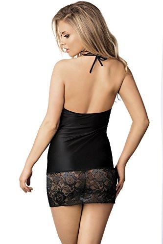 Excellent Beauty U-809 Sensuelle Jolie Chemise De Femmes – Fabriqué En UE Noir