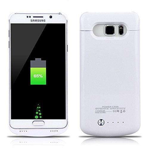 FindaGift Batterie Charger Li-Polymer Akku Hülle Samsung Galaxy Note 5 Lademöglichkeit Bettary Hülle Deckel Schalen Gehäuse Battery Cover Protector Akku Taschen Schutzhülle für Samsung Galaxy Note 5 - Weiß