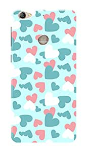 LeEco Le 1s Black Hard Printed Case Cover by Hachi - Hearts Pattern Design