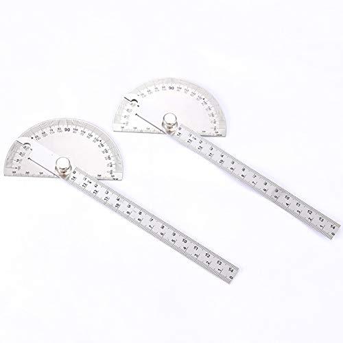 Winkelmesser, Winkelsucher Winkelmesser, 180 ° Winkelmesser aus rostfreiem Stahl, rundes Winkelmaß für alle Bauberufe, 2-TLG