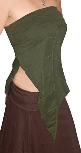 Green Leaf Baumwolle Top oder Rock Elfe Psy Feen Pixie Festival 810121416S M L