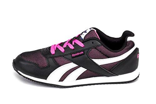 Reebok - Royal Cljogger, Sneaker Unisex – Bambini Noir (Black/White/Electro Pink)