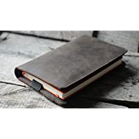 Agendas y planificadores Handmade Genuine Italy leather Mini 4 case Leather wallet Large Moleskine Cover iPad Mini 1/ Mini 2 / Mini 3/ Mini 4 case field notes leather case