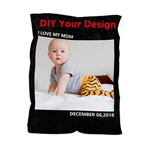 Fertigen Sie Ihr Foto besonders an, um personalisierte Fotodecken zu gedenken - tägliche Verwendung von Gedenkgeschenken für Elternkinder(,Foto-Text,60