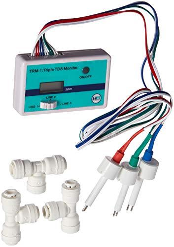 HM Digital Triple Inline RO/DI TDS Monitor mit 1/4 Zoll T-Armaturen -