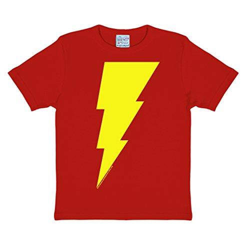 DC Comics - Captain Marvel - Shazam Logo T-Shirt Kinder Jungen - rot - Lizenziertes Originaldesign - LOGOSHIRT, Größe 158/164, 13-14 (Shazam Kostüm Dc)