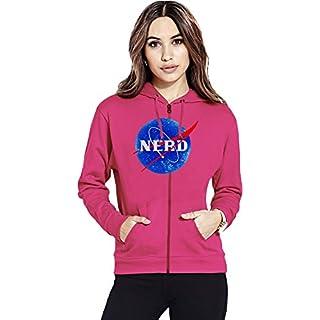 Nasa Funny Logo Nerd Womens Zipper Hoodie X-Large