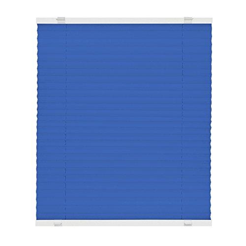 VICTORIA M Plissee Klemmfix ohne Bohren - EasyFix Größe: 60 x 200 cm, Farbe: blau