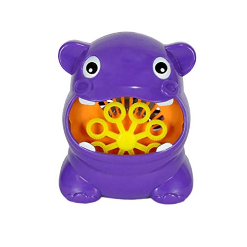 TOYANDONA Bubble Machine Automatische Bubble Maker Hippo