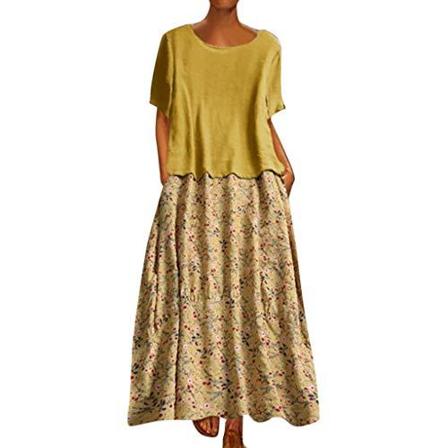 Damen Kleid Lang, Marlene1988 Mitgliedertagen Sparen 90% Lange Kleider Kleid Plus Größe Kleider Maxikleid Kleider RüSchen Swing-Kleid Rock Schwingendes Maternity