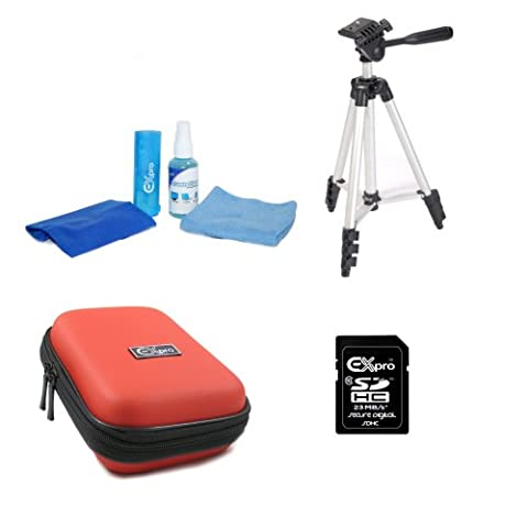 Olympus SZ-31MR Red Ex-Pro Accessories Pack, Camera Case, Tripod, 16Gb