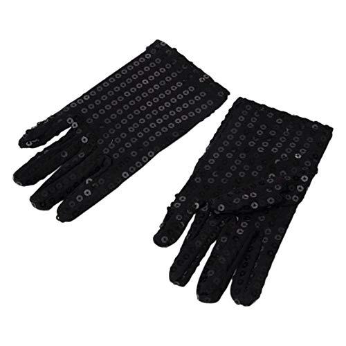 Aisoway 1 Paar Kinder Kostüm Handschuhe Glänzende Pailletten-Handschuhe Für Fancy Dance Party Halloween Cosplay Partei (Das Glänzende Paar Kostüm)