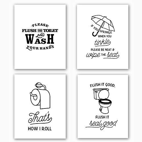 Bathroom Art Print Set of 4 (10