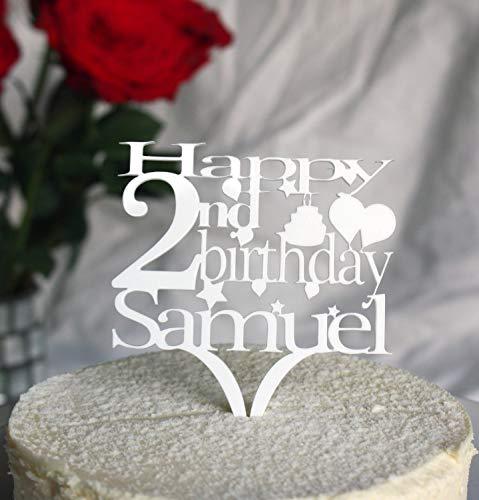 (Tortenaufsatz für Geburtstagskuchen, personalisierbar mit jedem Alter und Namen, in verschiedenen Farben, 18th21st30th40th50th60th70th80.)
