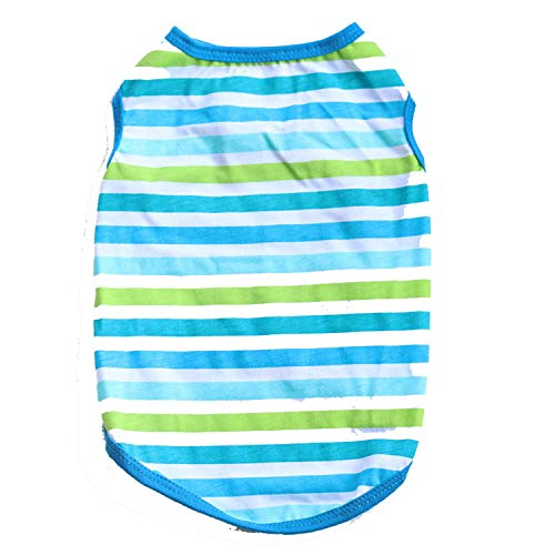 frgtrhb Classic Stripe Sommer Hundebekleidung für kleine Hunde Chihuahua Sommer Kleidung Cool Puppy Outfit Kostüm XS - L